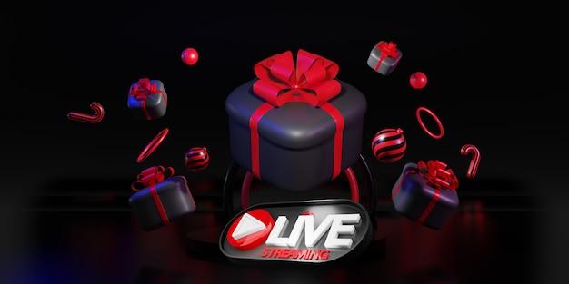 Coffrets cadeaux noirs. conception de nouvel an et de noël, super vente, achats en ligne, rendu 3d