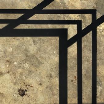 Coin géométrique sur ciment