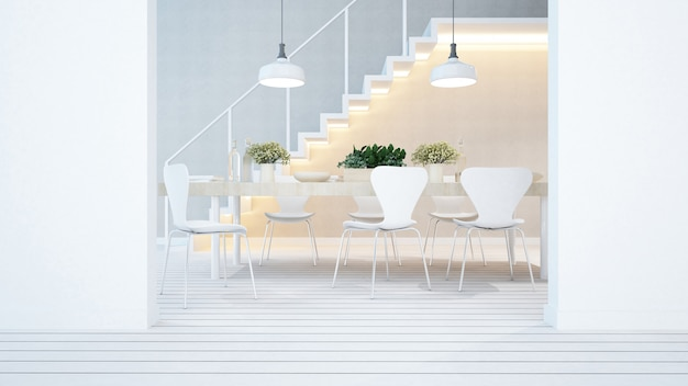 Coin repas et balcon dans un appartement ou un condominium