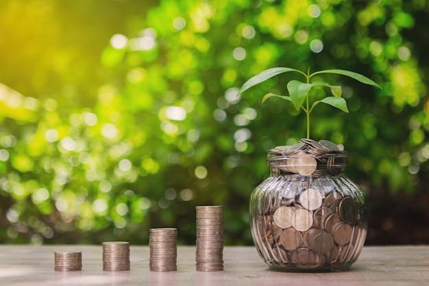Coins croissance pour profiter du concept d'entreprise et de l'investissement