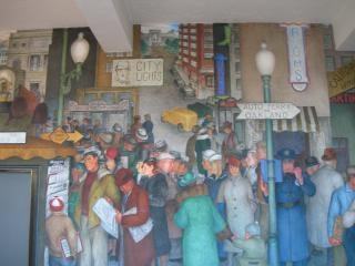 Coit murale kiosque à journaux