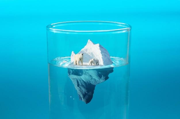 Collage de concept de changement climatique