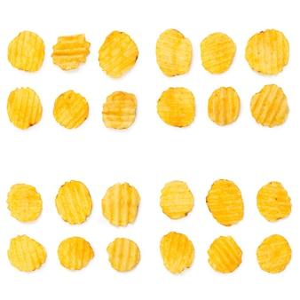 Collage de délicieuses croustilles