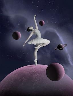 Collage spatial avec ballerine