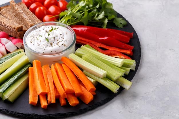 Collation de légumes sains