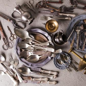 Collection d'accessoires vintage