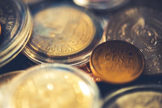 Collection américaine de pièces de monnaie âgées