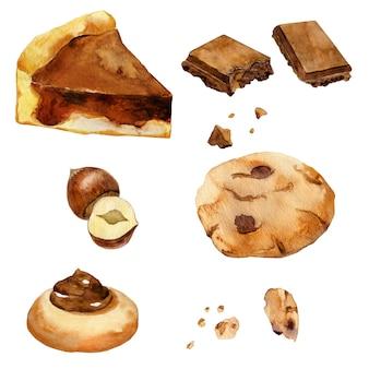 Collection de biscuits au chocolat