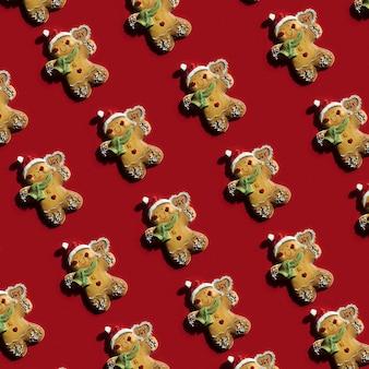 Collection de biscuits sous forme de jouets de noël