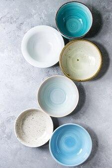 Collection de bols en céramique
