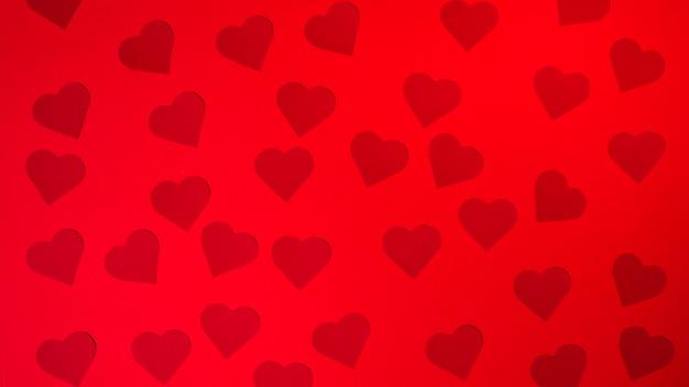 Collection de coeurs d'ornement en papier vineux