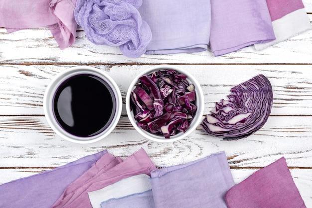 Collection de colorants organiques à plat