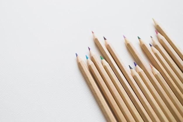 Collection de crayons de couleur