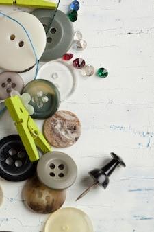 Collection de divers boutons
