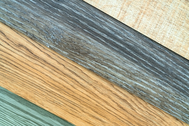 Collection d'échantillons de carreaux de vinyle pour architecte d'intérieur. nouveau carreau de vinyle à motif en bois.