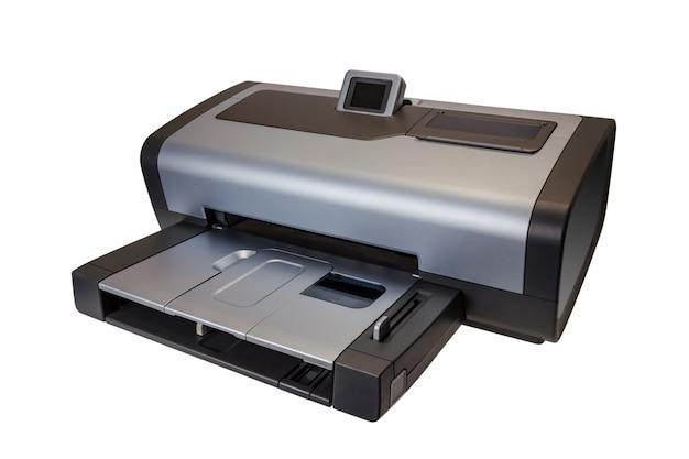 Collection électronique - imprimante à jet d'encre moderne isolée
