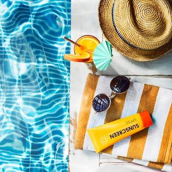 Collection fraîche de loisirs d'été concept de loisirs colorés