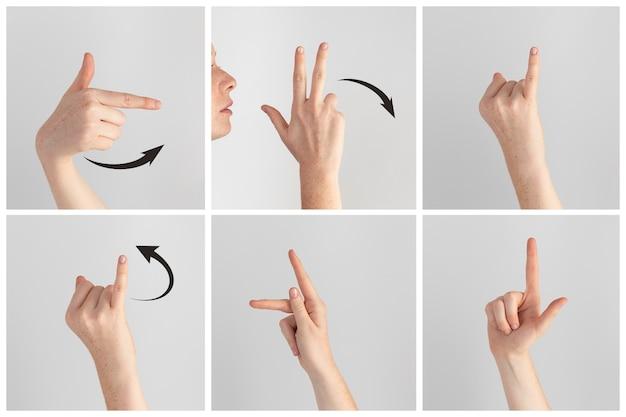 Collection de gestes de la main en langue des signes
