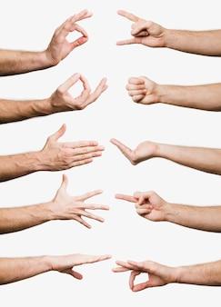 Collection de gestes de la main