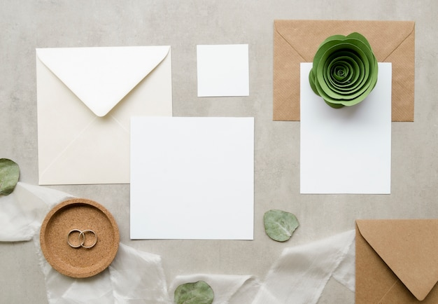 Collection d'invitation de mariage simple