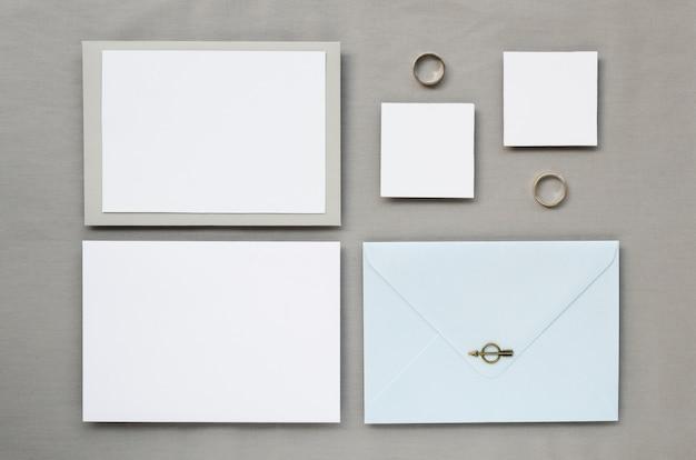 Collection d'invitations de cérémonie de mariage