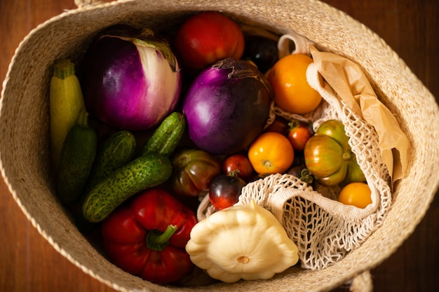 Collection de légumes sains frais joyeux thanksgiving récolte automne