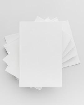 Collection de livres vue de dessus