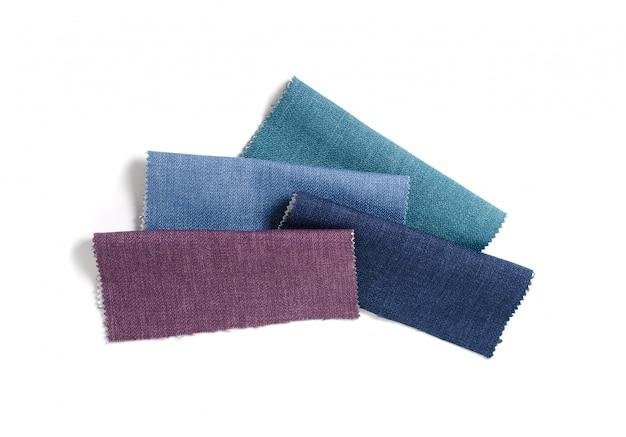 Collection lumineuse d'échantillons de textile gunny. texture de tissu.