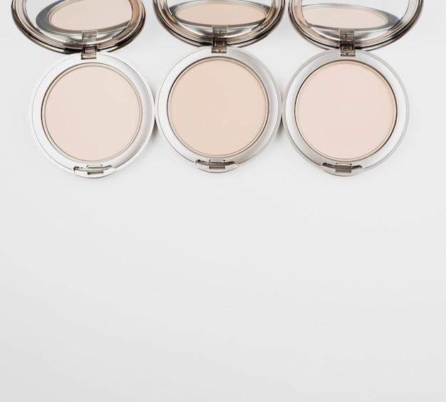 Collection de maquillage avec espace de copie