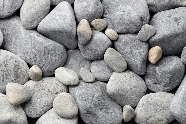 Collection de pierres plates