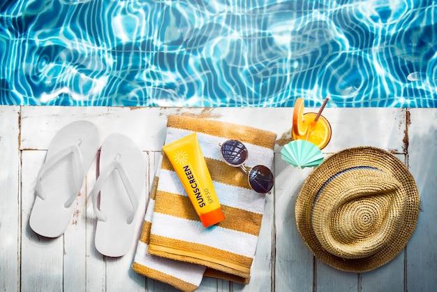 Collection summer chill concept frais de loisirs colorés