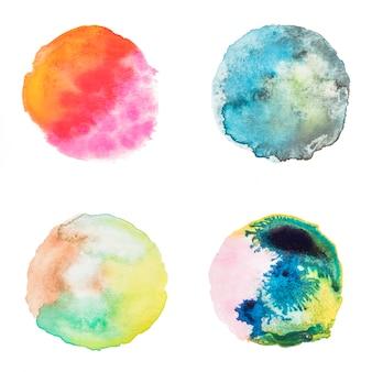 Collection de taches d'aquarelle