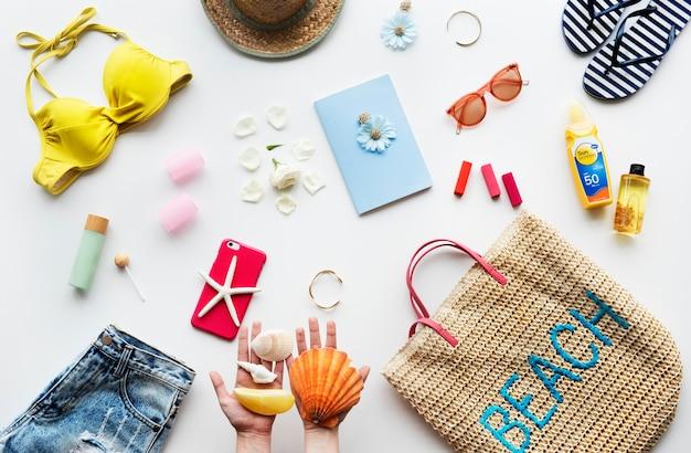 Collection de trucs de plage pour l'été