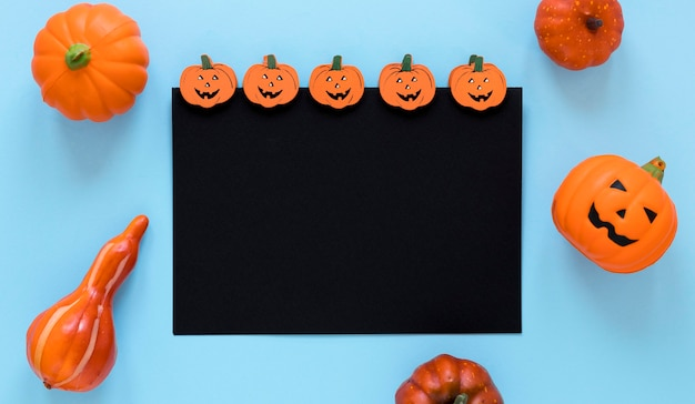 Collection vue de dessus des éléments d'halloween