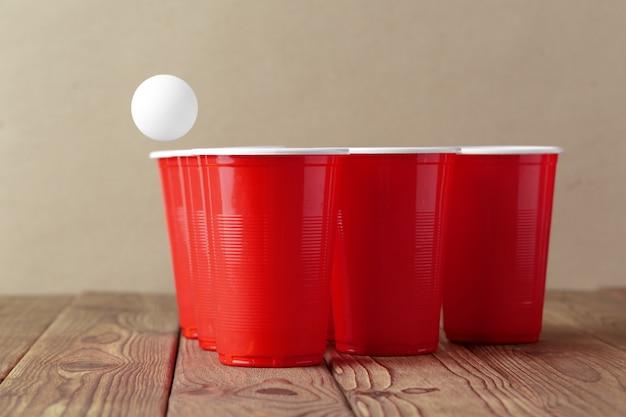 College party sport - bière pong