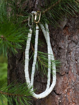 Colliers de nacre fabriqués à la main à partir de pièces polies comme cadeau pour femme