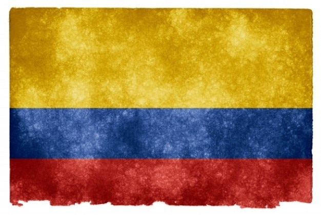 Colombia flag grunge