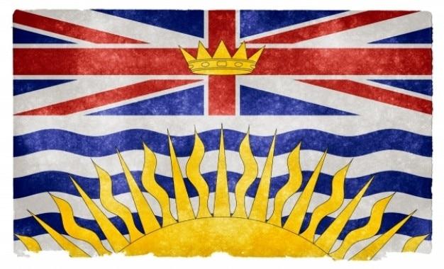 Colombie-britannique grunge flag