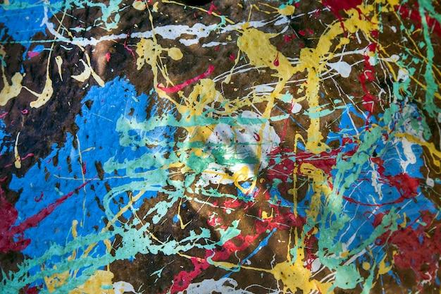 Coloration arclilique abstraite sur la texture de la pierre