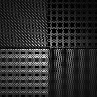 Combinaison moderne abstraite de conception matérielle texturée de fibre de carbone noire.