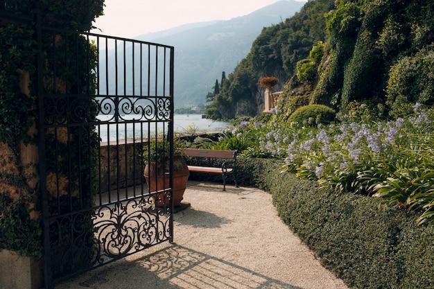 Côme, italie. jardin balbianello villa.