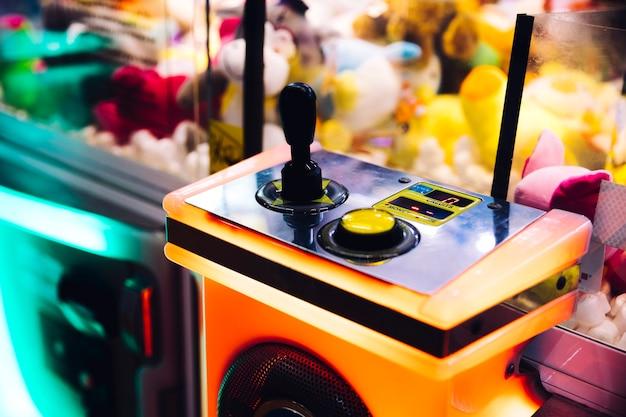 Commandes de la machine d'arcade en gros plan