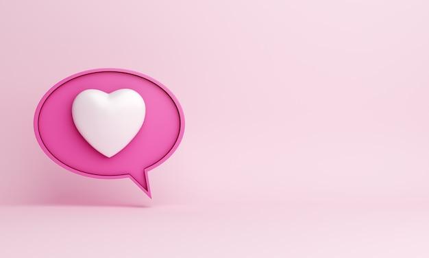 Comme le coeur icône espace copie de notification de médias sociaux