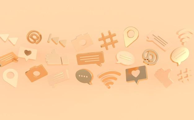 Comme le commentaire de chat, le hashtag de la caméra à bulles, le symbole du réseau sans fil wi-fi aux icônes