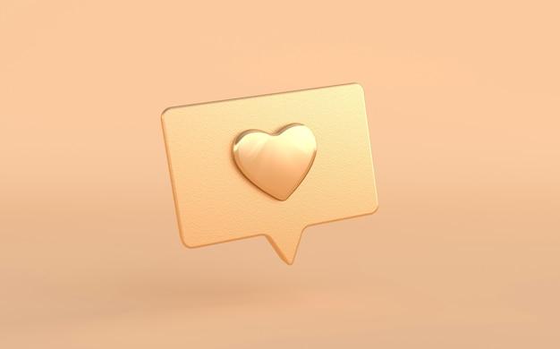 Comme l'icône du cœur sur un rendu de broche