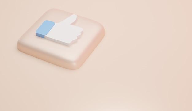 Comme les icônes et le rendu 3d minimal du logo