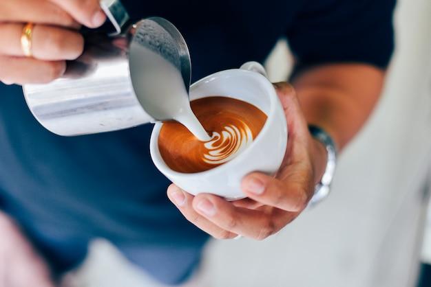 Comment faire du café latte art