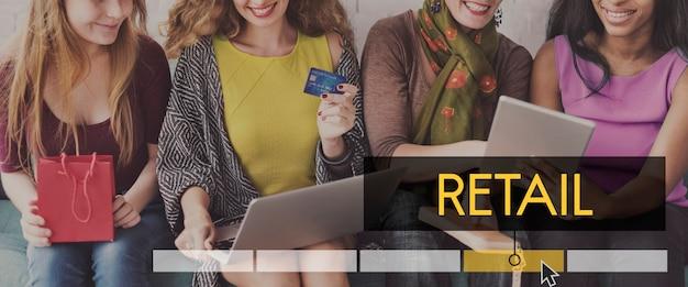 Commerce de détail promotion du commerce consommateur achat vente