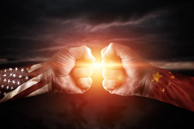 Commerce guerre chine et amérique, conflit