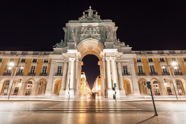 Commerce square est situé dans la ville de lisbonne, portugal